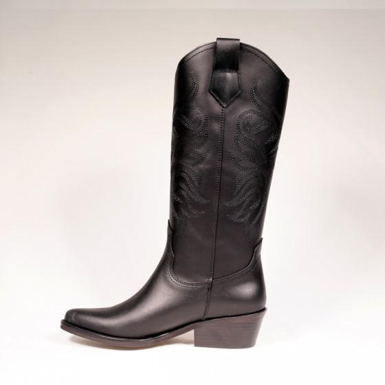 Bota cowboy mujer DKT 62 Garden Negro