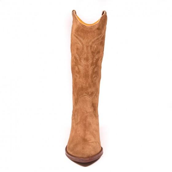 Bota cowboy mujer DKT 62 Capuccino