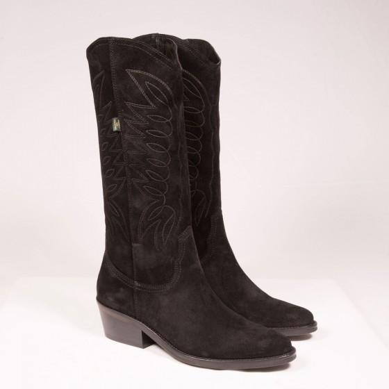 Bota cowboy mujer DKT 67 Negro